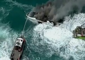 57-Foot_Carver_Boat_Off_Key_Biscayne_vs_Caught_On_Fire_[RAW_VIDEO]_1